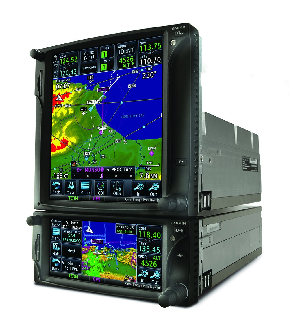 aircraft GPS double monitor