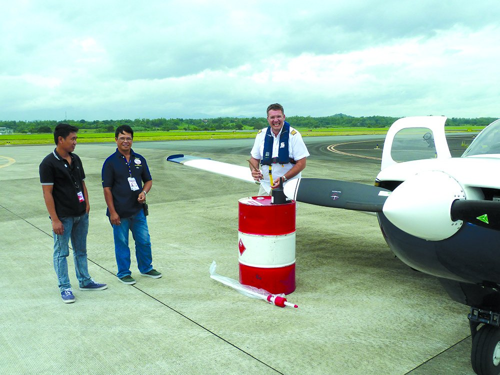 Avgas fill-up in the Phillipines