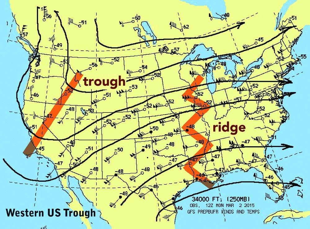 Western US trough