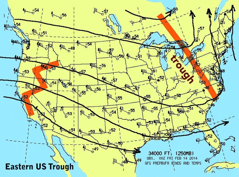 Eastern US trough
