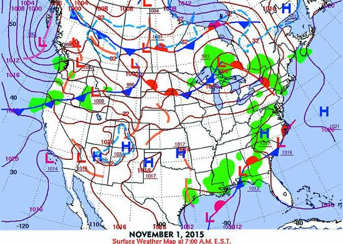 autumn weather patterns map