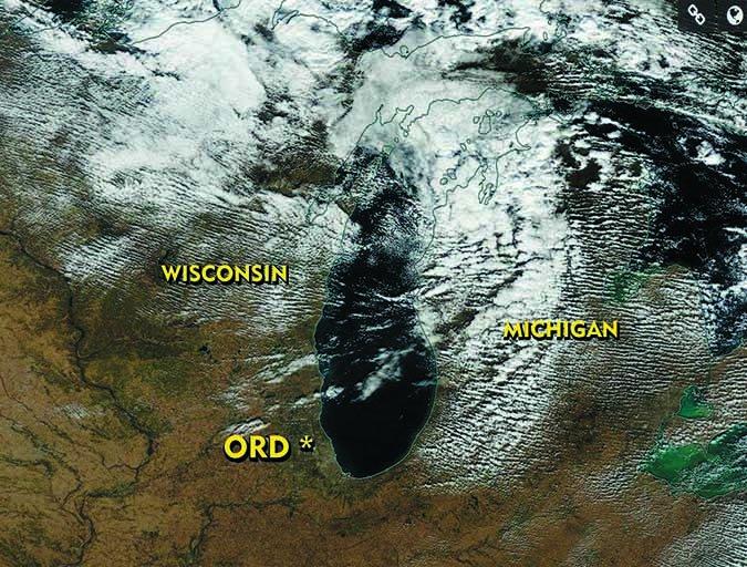 NASA satellite weather image lake Michigan