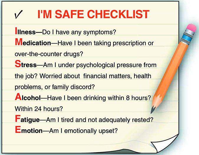 PILOT SAFETY CHECKLIST