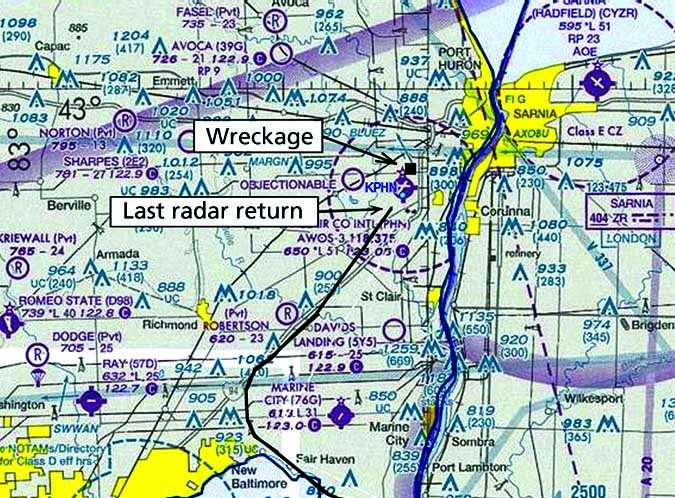PA-34 approach at Port Huron Airport