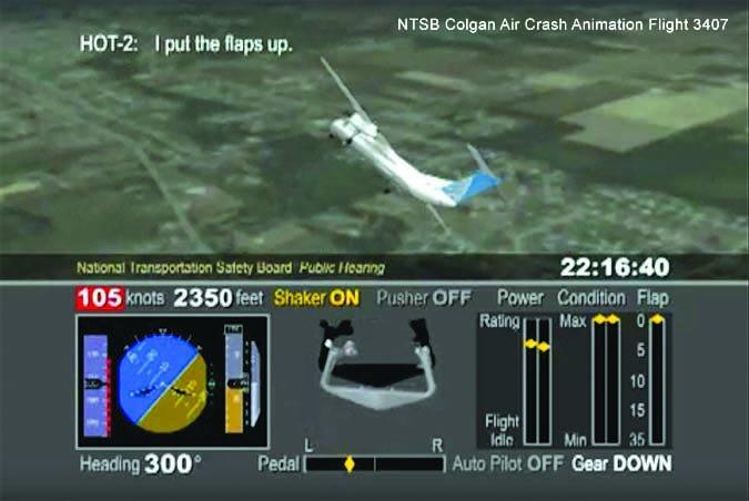 Colgan flight automated monitoring system