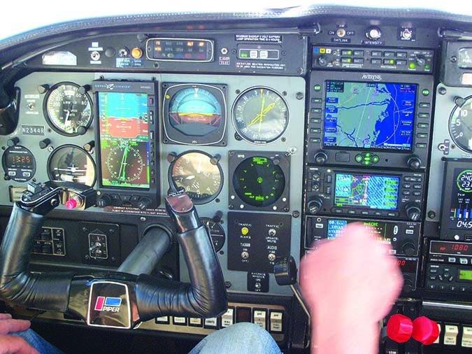 pilot flying airplane