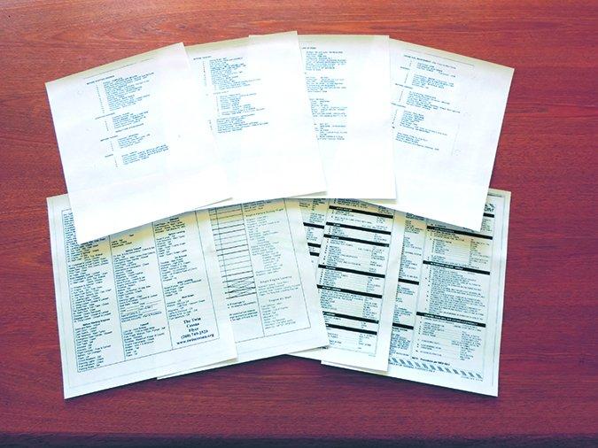 pilot checklists
