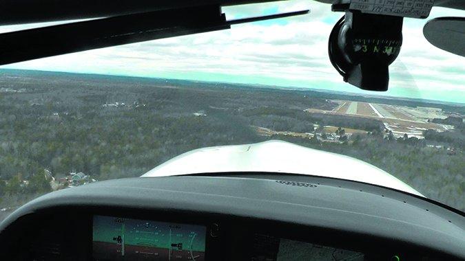 gliding into headwind