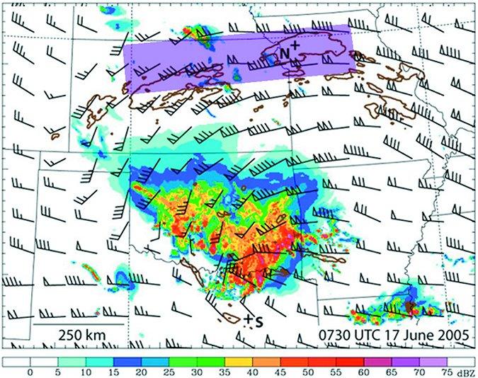 aerial radar image showing turbulence