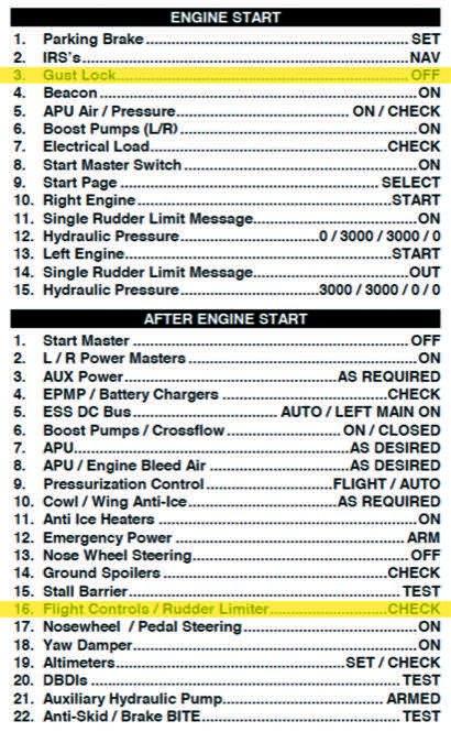 The Gulfstream checklist