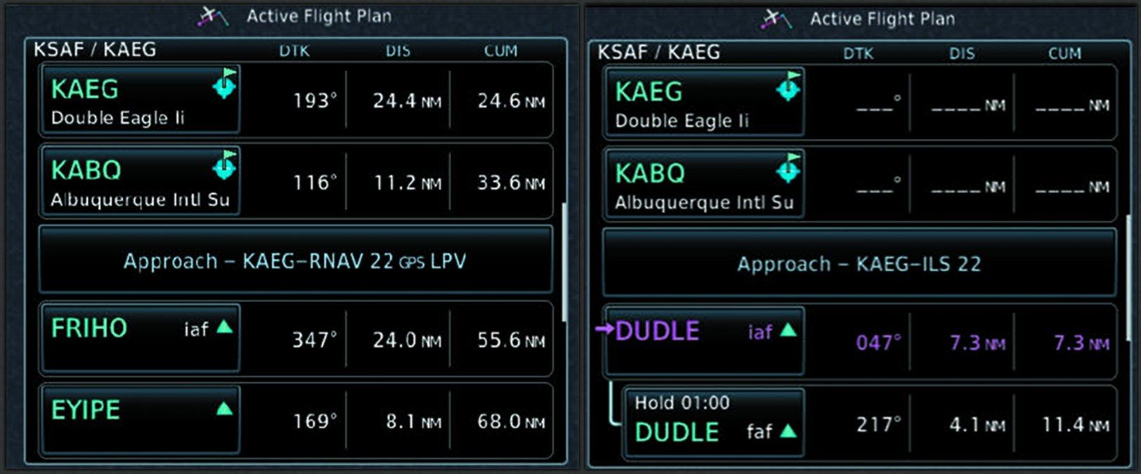 Active Flight Plan