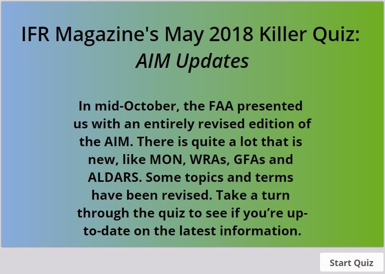 ifr may 2018 killer quiz